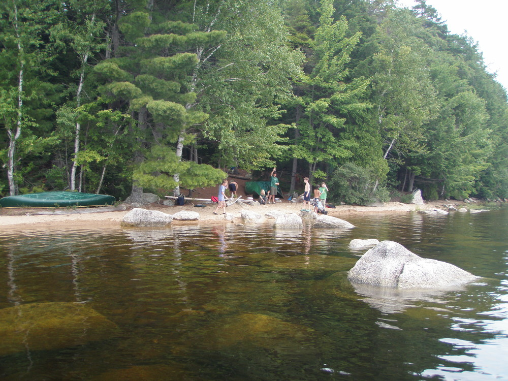 Canoe campers on the Downeast Lakes Water Trail (Credit: Downeast Lakes Land Trust)