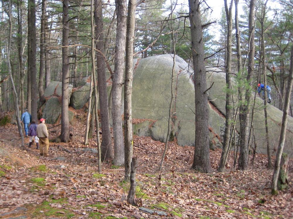 Glacial erratic in Clifford Park (Credit: Maine Coast Heritage Trust)