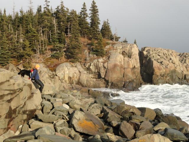 Boulder Scrambling on the Trail (Credit: Maine Bureau of Parks and Lands)