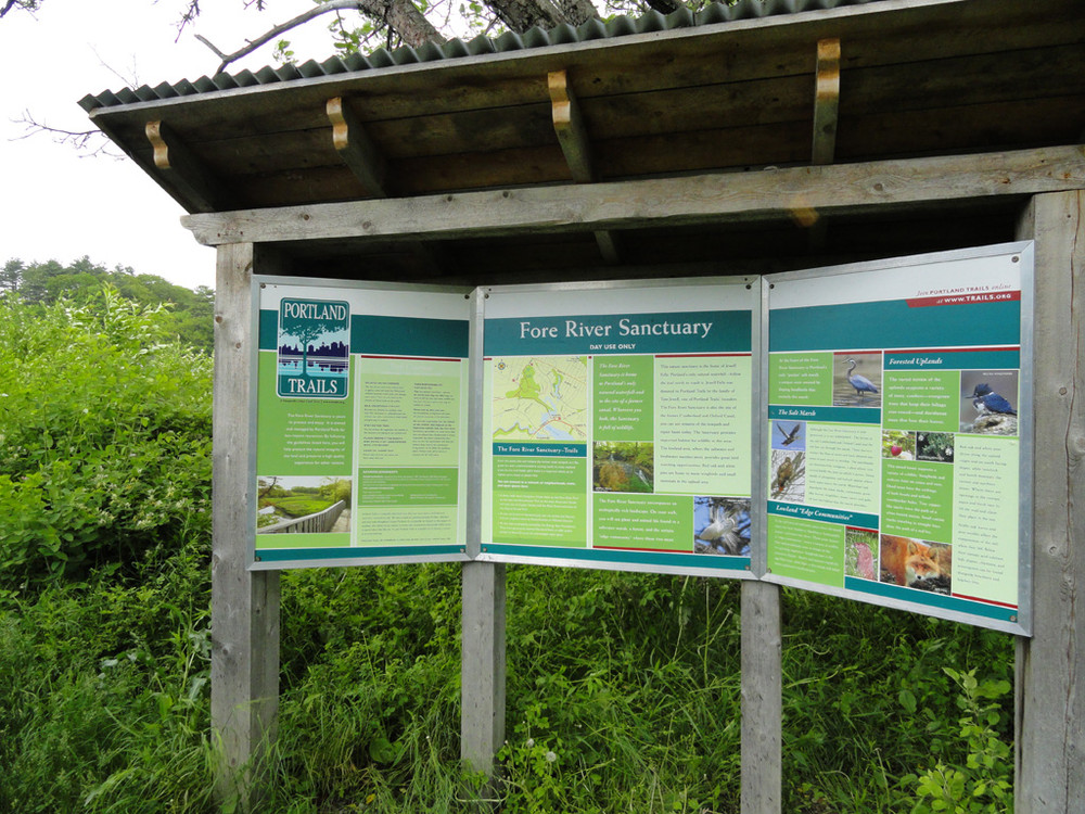Kiosk at Fore River Sanctuary (Credit: Center for Community GIS)