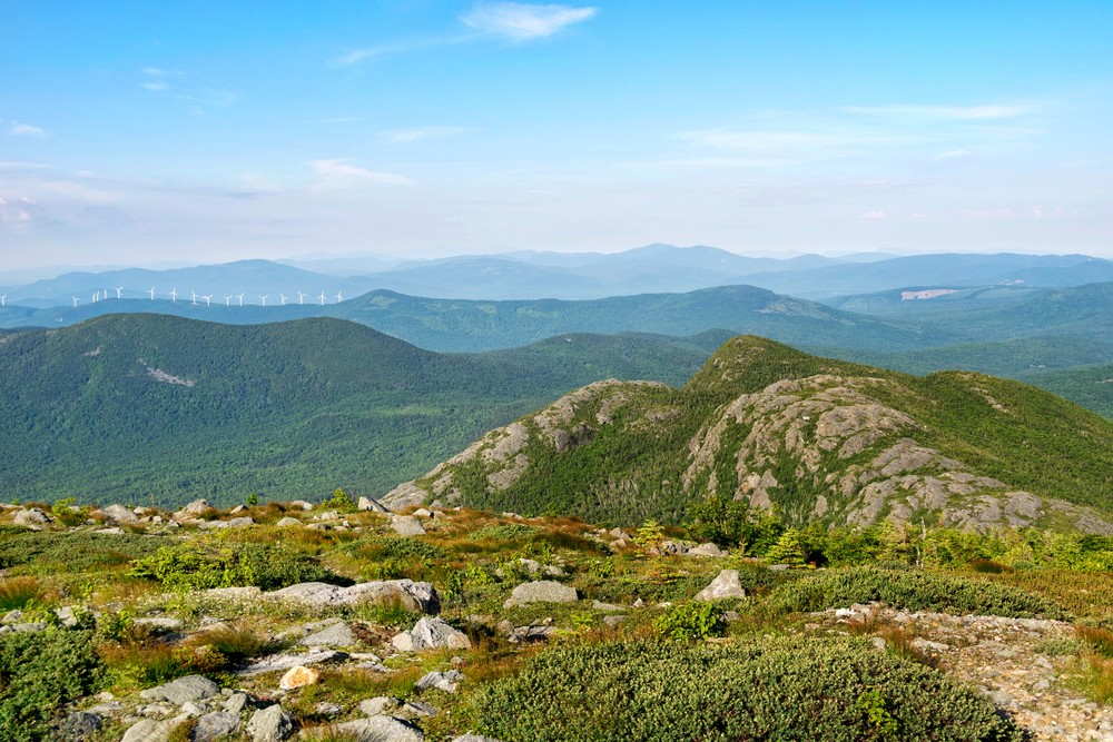 Views of Tumbledown's summits from Little Jackson summit (Credit: Mainely Casey)