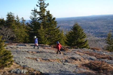 Traversing the face of Blue Hill Mountain in fall (Credit: Blue Hill Heritage Trust)