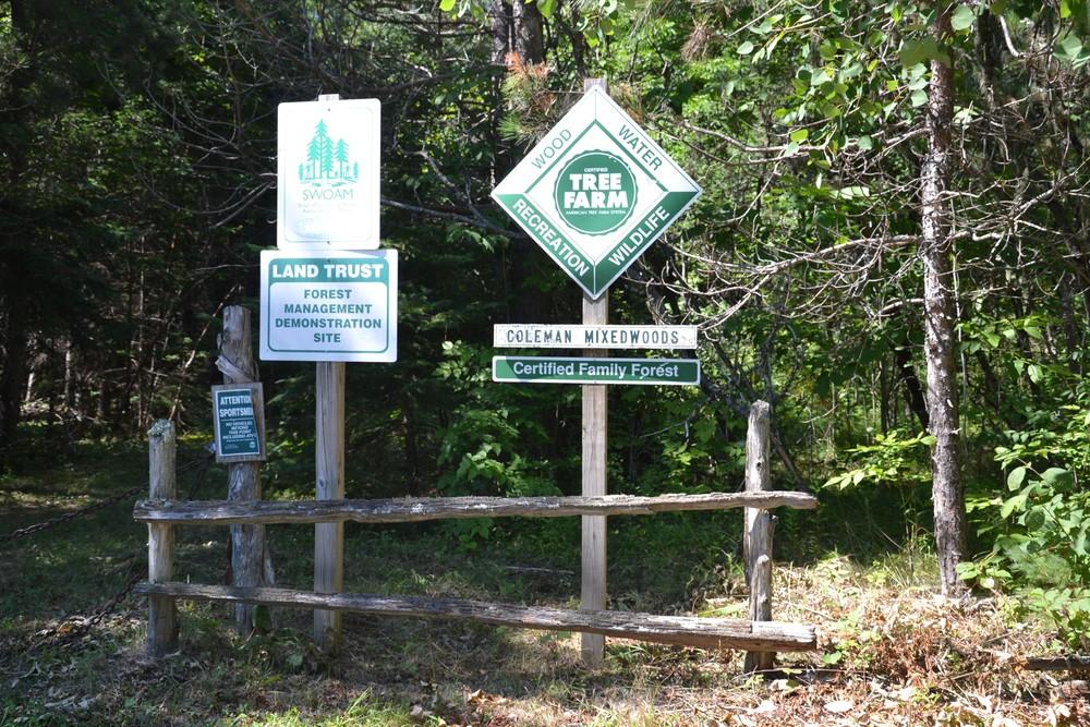 Trailhead signage (Credit: Maine Trail Finder)