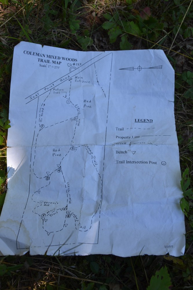 A copy of the map, just in case it is the last one! (Credit: Maine Trail Finder)