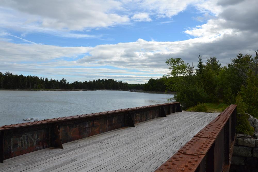 The restored bridge and Old Pond (Credit: Nicole Grohoski)