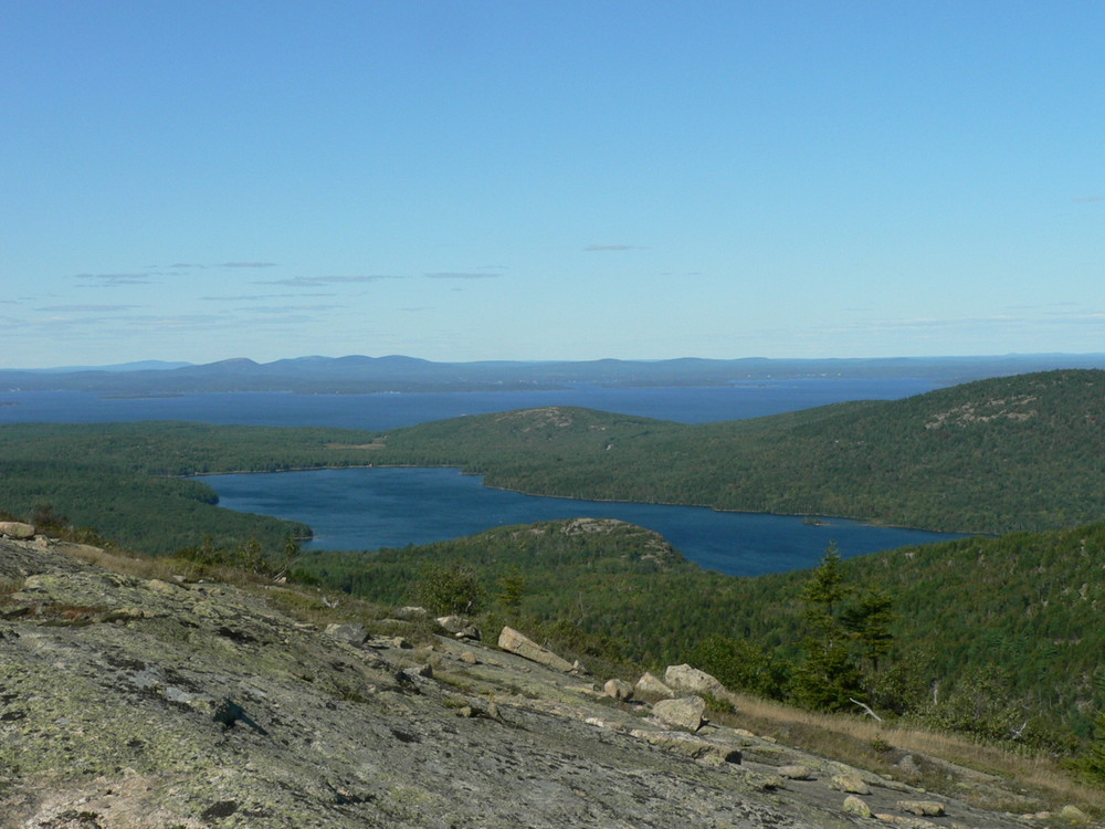 Eagle Lake from the North Face of Sargent Mountain Trail (Credit: National Park Service)