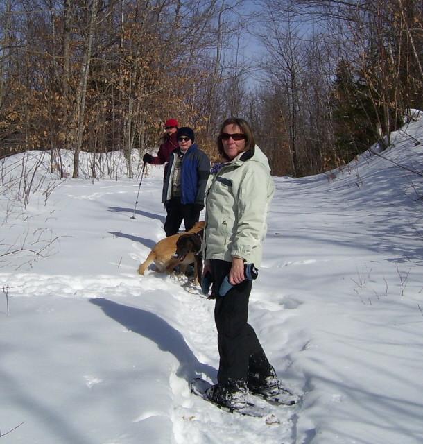 Esker Path Snowshoe (Credit: Great Pond Mountain Conservation Trust)