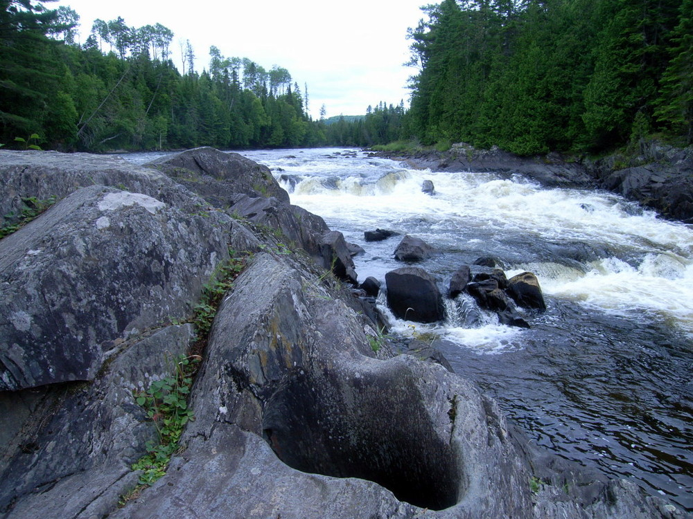 One of the potholes created by the Fish River (Credit: Aroostook Outdoors)