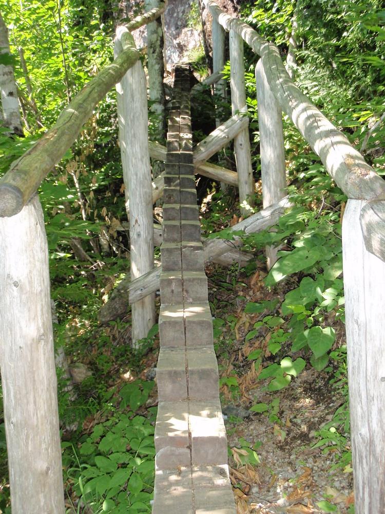 Foot Bridge along Jordan Cliff (Credit: National Park Service)