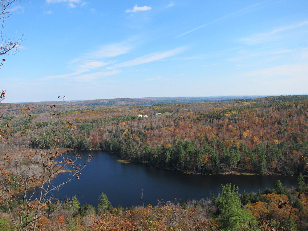 Whittier Pond from French Mountain Trail (Credit: M.Morris)