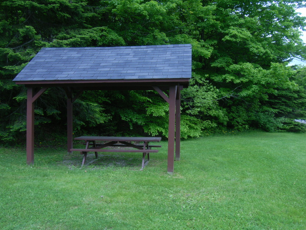 Sheltered picnic area at the base of the trail (Credit: Aroostook Outdoors)