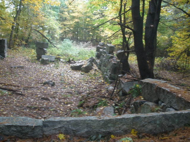 Foundation along the Homestead Trail (Credit: Maine Bureau of Parks and Lands)