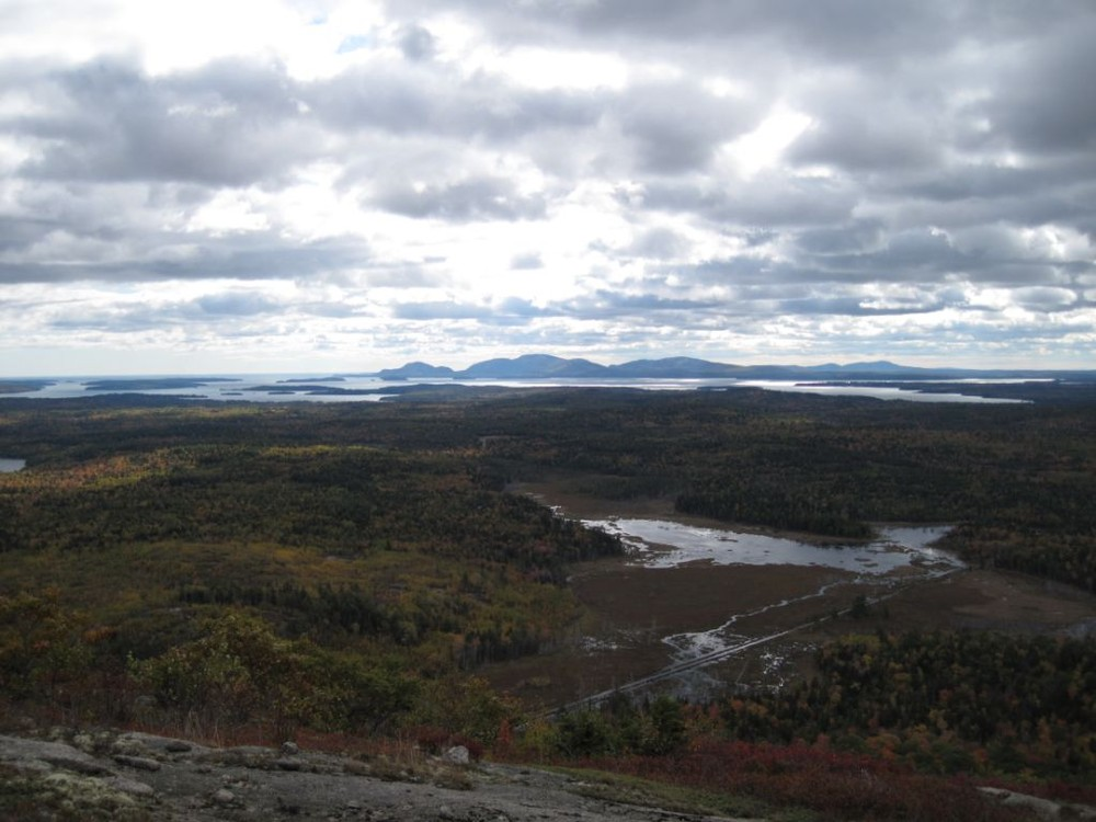View from Schoodic Mountain looking towards Mount Desert Island (Credit: Maine Bureau of Parks and Lands)