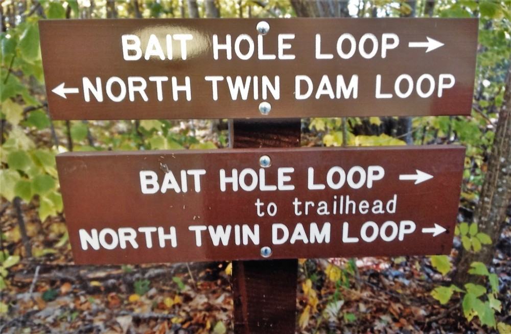 Trail signs on the Bait Hole system (Credit: Don Nodine)