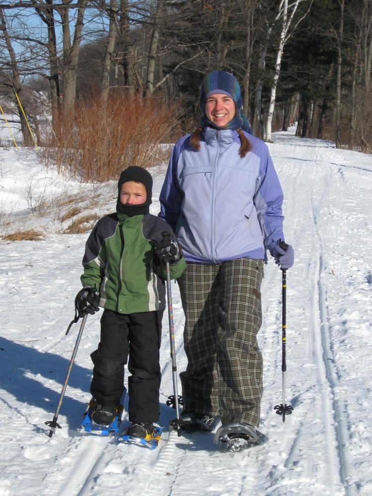 Snowshoeing (Credit: Kennebec Messalonskee Trails)