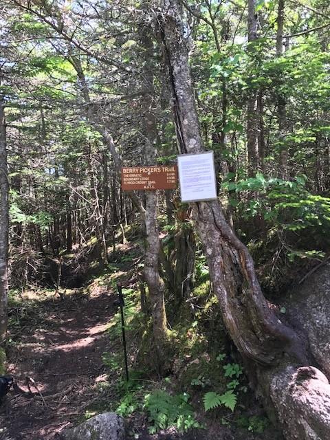 Trailhead signage (Credit: MATC)
