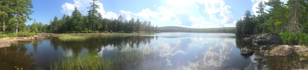 A panorama of Ducktail Pond in July, 2017 (Credit: Samantha Lavoie)