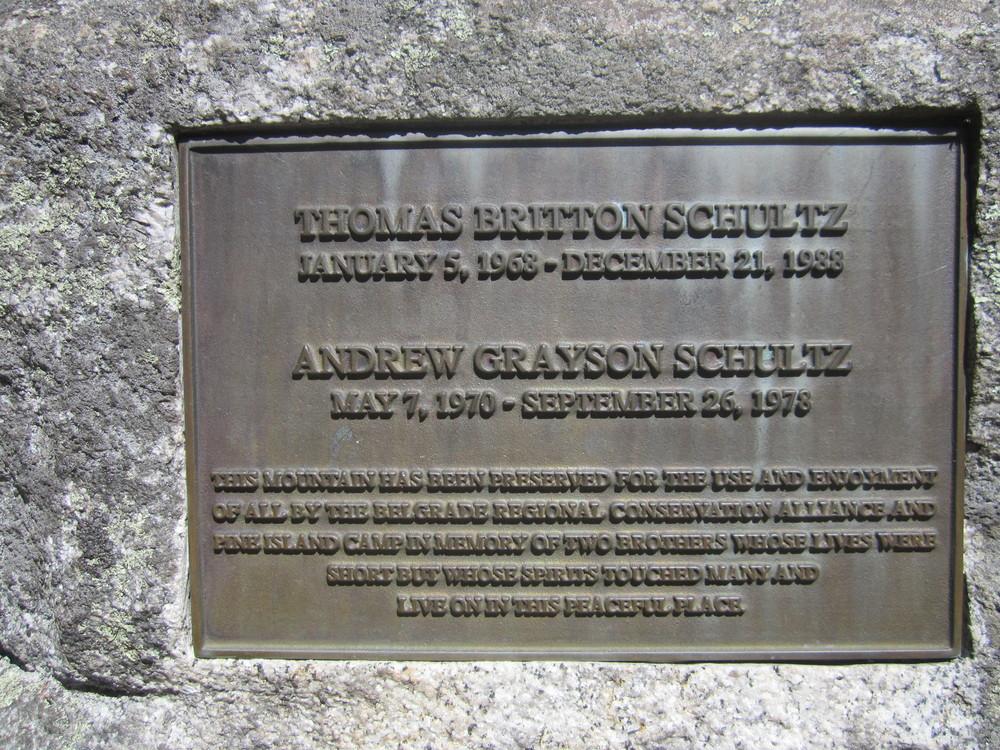 Memorial set in stone at the top (Credit: Talkingtent)