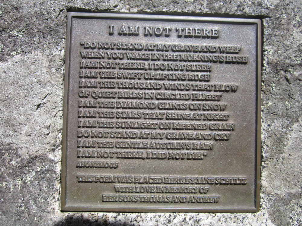 Poem set in stone at the top (Credit: Talkingtent)
