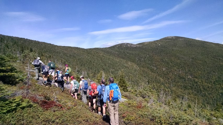 Group hike with The Horn in the background (Credit: Simon Rucker)