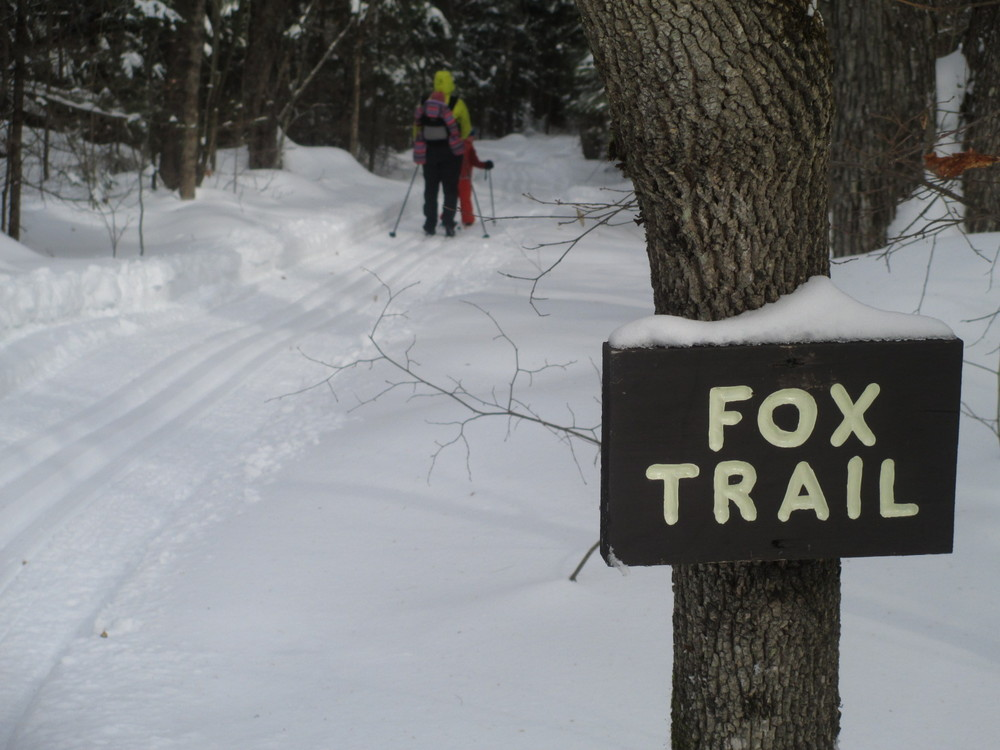 Skiing with kids on the Fox Trail (Credit: Center for Community GIS)