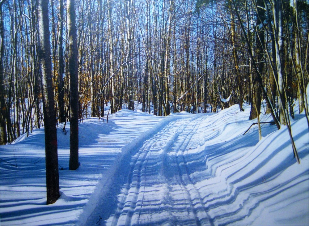 Double-groomed trails at the Bait Hole (Credit: Don Nodine)