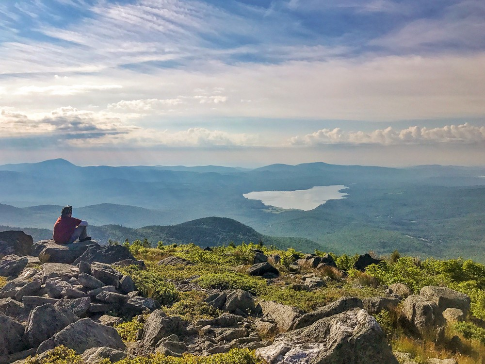 Views of Webb Lake from Little Jackson summit (Credit: Mainely Casey)