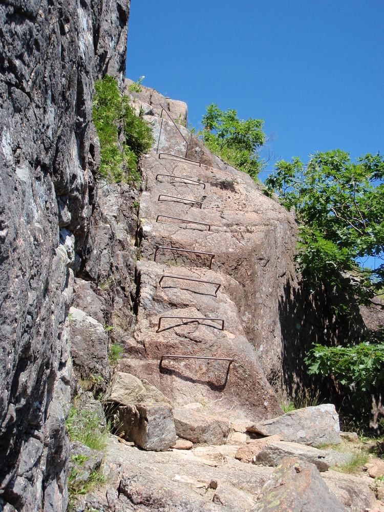 Iron Rungs on Jordan Cliff (Credit: National Park Service)