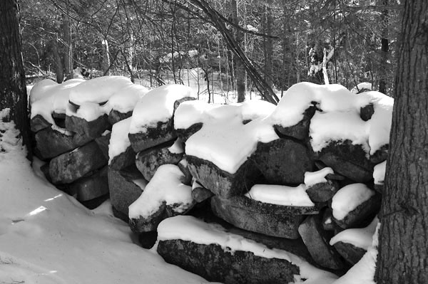 Stone Wall Along Trail (Credit: Kennebec LT)