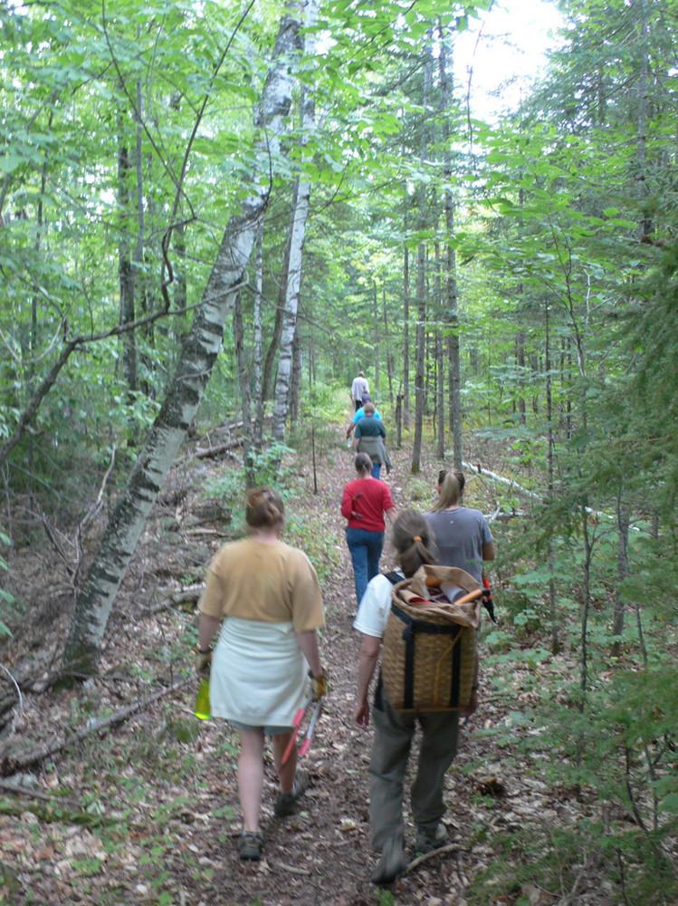 Community Volunteers Help Building the Trail (Credit: High Peaks Alliance)