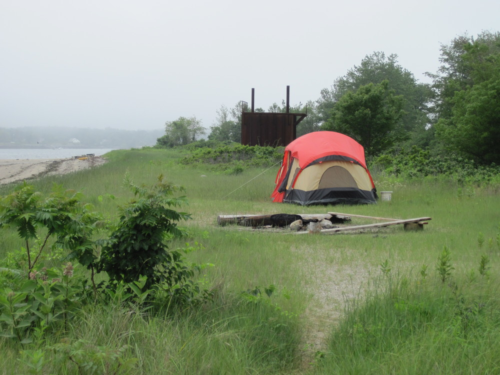 Camping on Little Chebeague (Credit: MITA)