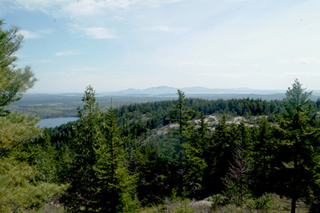 Mount Desert Island from Black Mountain (Credit: Maine Bureau of Parks and Lands)
