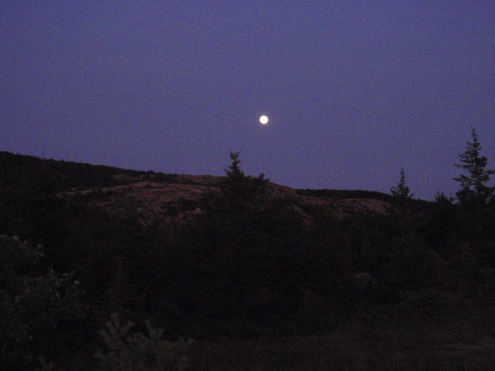 Moon from Bald Mountain (Credit: National Park Service)