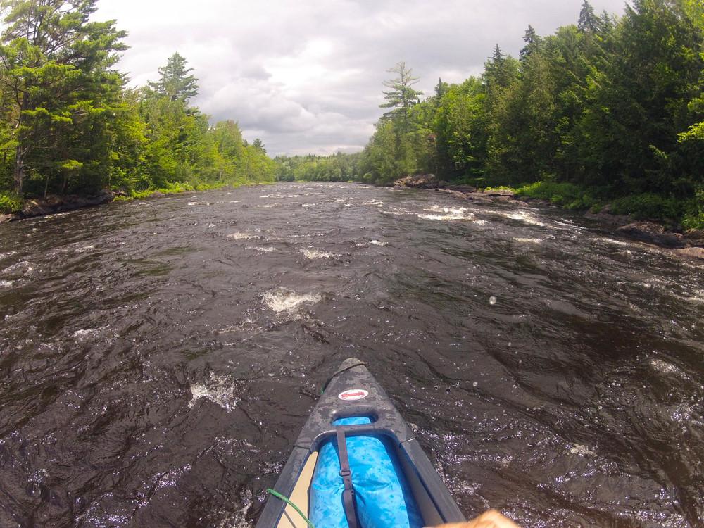 Paddling along the Moose River near the Demo Portage (Credit: ME BPL)