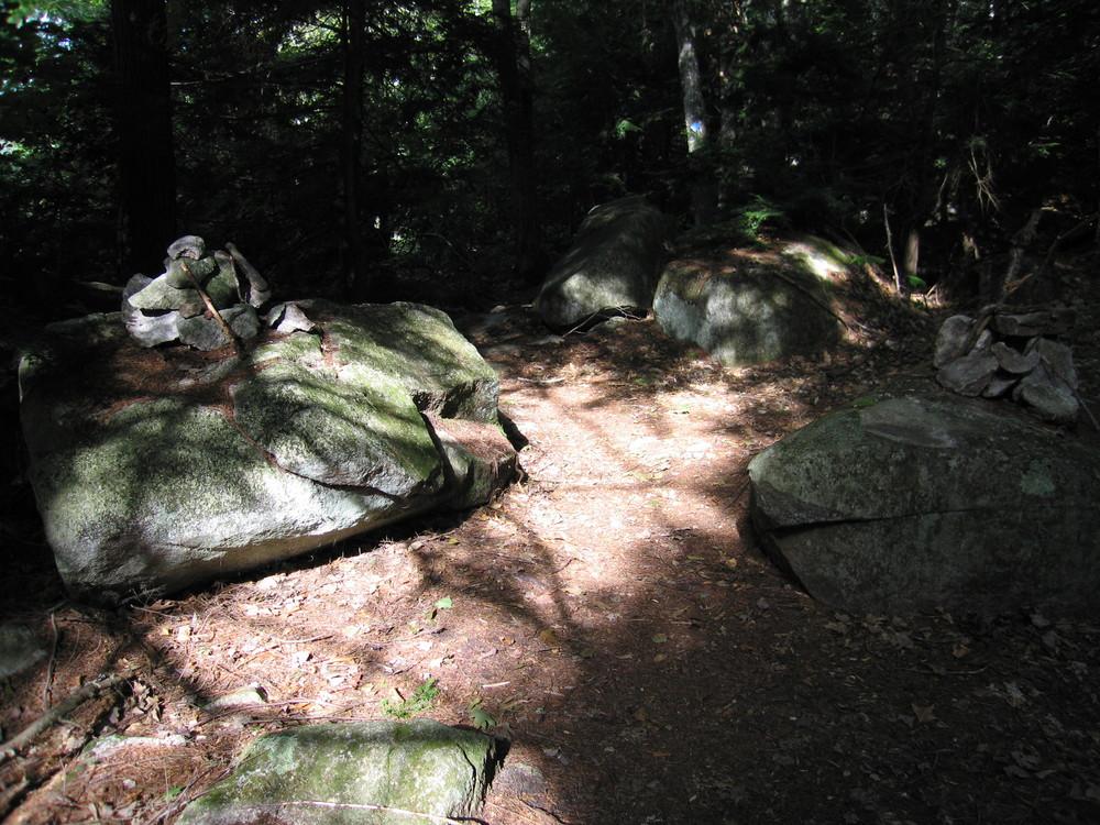 Trail section through boulders (Credit: M. Morris)