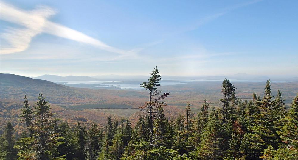 View of Lily Bay, Moosehead Lake (Credit: ME BPL)
