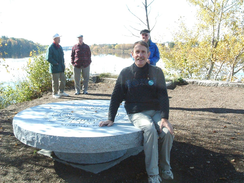 Rotary Monument (Credit: Kennebec Messalonskee Trails)