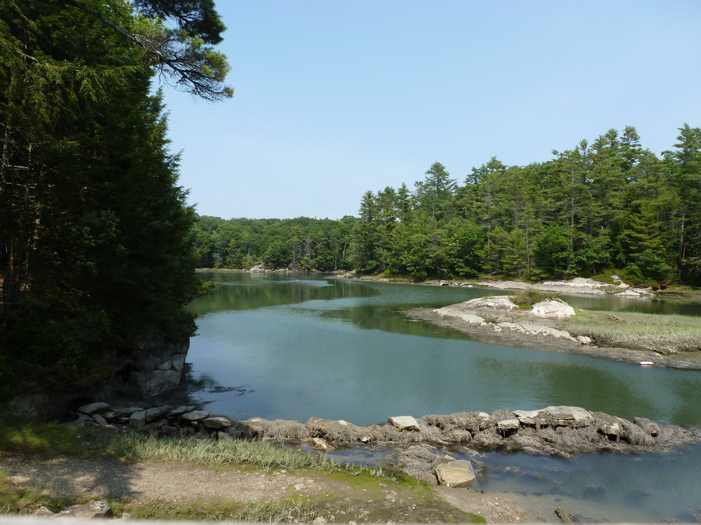 Remains of the old ice cove dam (Credit: Chris Nason)