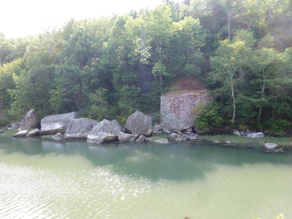 Large boulders along the river (Credit: Chris Nason)