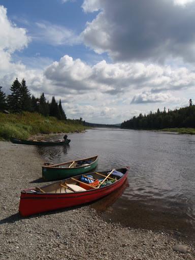 Canoes at Michaud Farm (Credit: Nicole Grohoski)