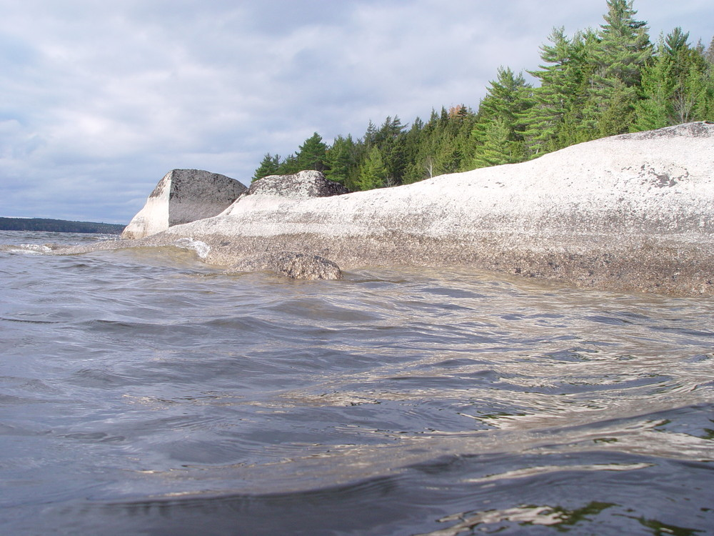 Rocks south of Coffin Point (Credit: Downeast Lakes Land Trust)