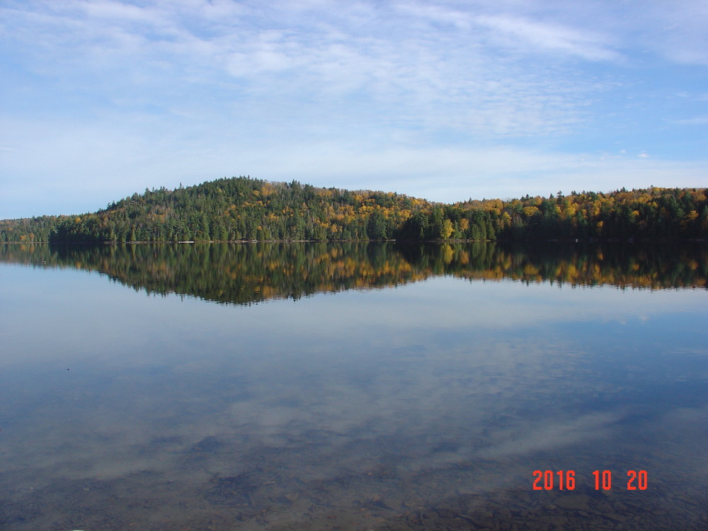 View of Knoll for Owl's Head shows paddling from dock (Credit: Joyce Bradway)