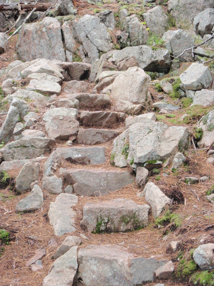 Steps from Summit to Cove (Credit: National Park Service)