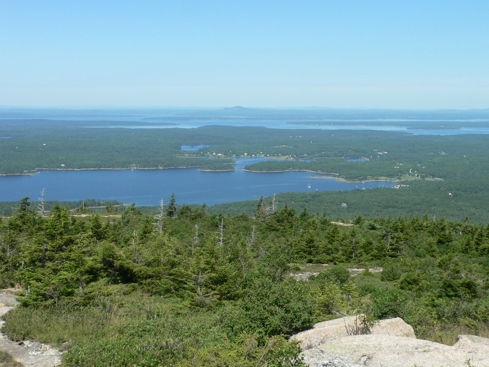 Summit of Sargent Mountain with a view of Somes Sound (Credit: National Park Service)