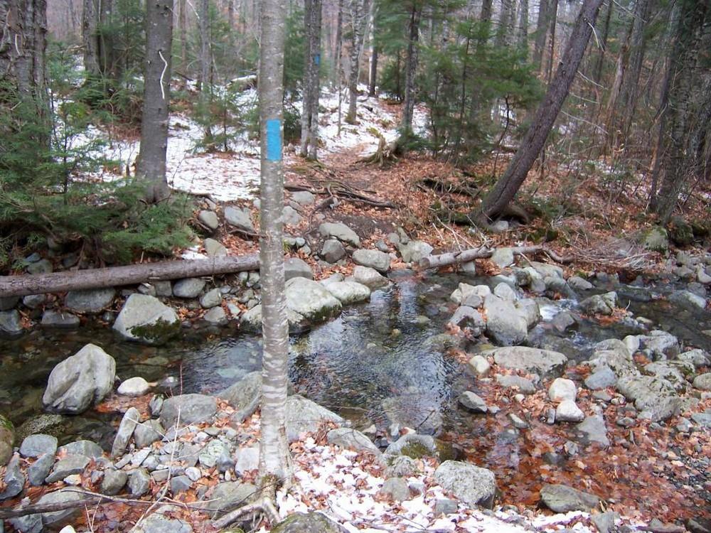 One of the Safford Brook Crossings (Credit: Maine Appalachian Trail Club)