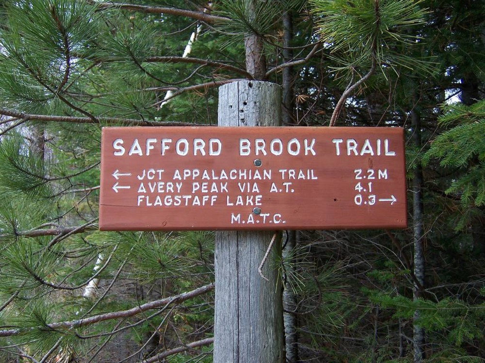 Sign at Trailhead for Safford Brook (Credit: Maine Appalachian Trail Club)