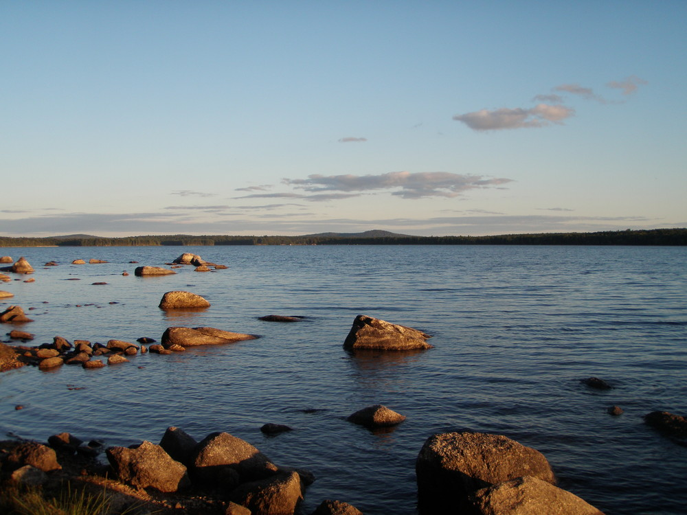 View from a Downeast Lakes Water Trail campsite, Pocumcus Lake (Credit: Downeast Lakes Land Trust)