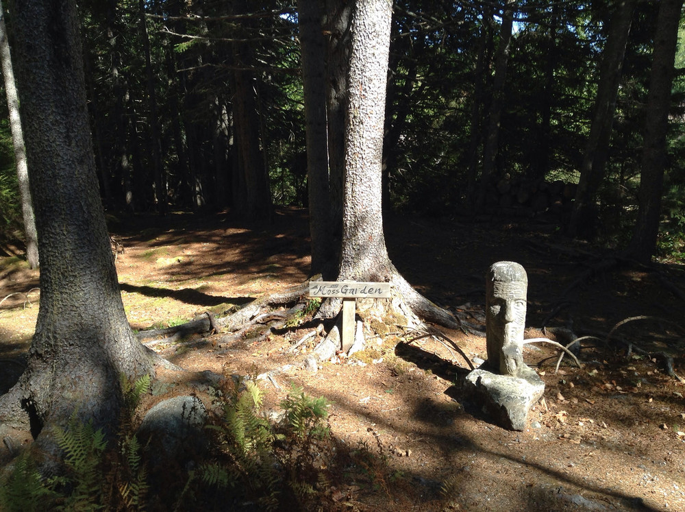 Sculpture inviting silence and contemplation (by Lenore Straus) (Credit: Morgan Bay Zendo)