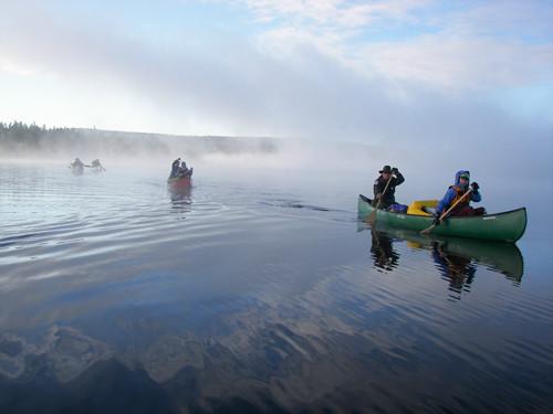 Paddling through morning mist (Credit: ME BPL)