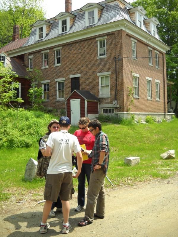 Ambleside, a Civil War era home of railroad financier Major Seward Dill, graces the Amble Street Trailhead (Credit: Center for Community GIS)
